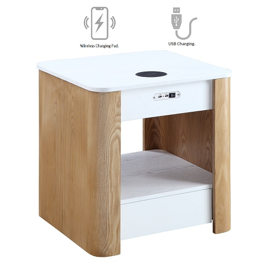 Wasdale Smart Bedside Table In Ash And White Without Light_2