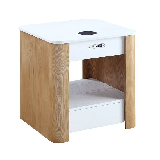 Wasdale Smart Bedside Table In Ash And White Without Light_3