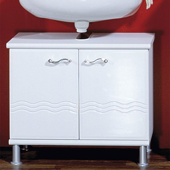 Jessica White Bathroom Vanity without Wash Basin