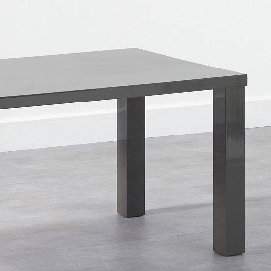 Washington 200cm Dining Table In Dark Grey High Gloss 34481