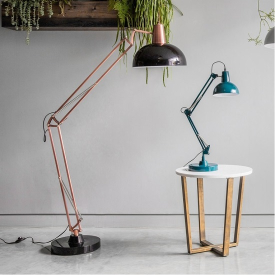 Watson Floor Lamp In Bronze and Black Finish