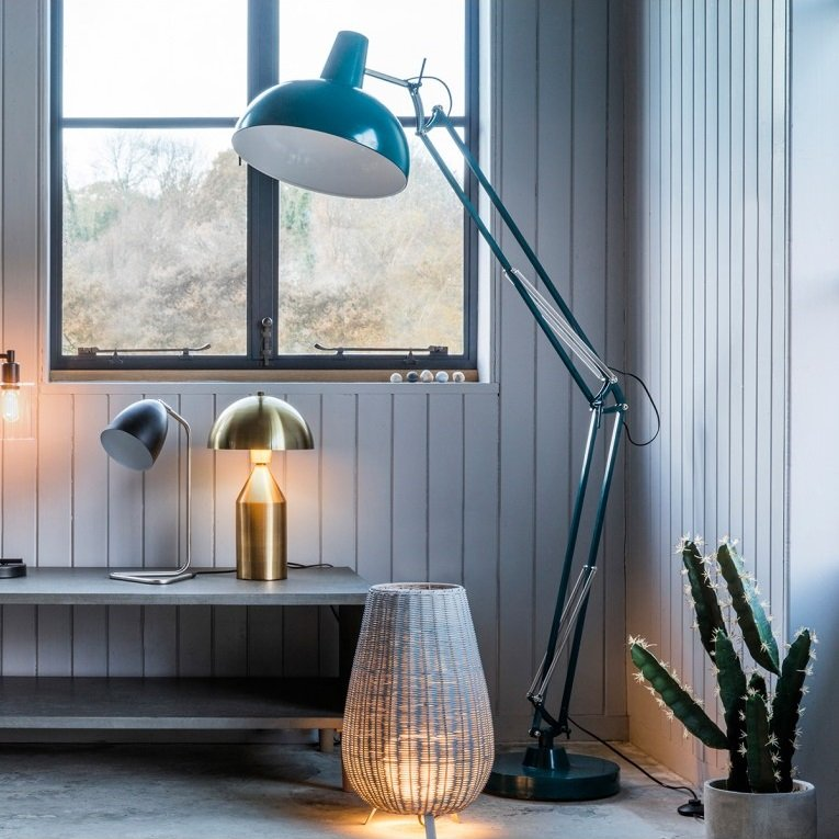 Watson Floor Lamp In Teal Finish