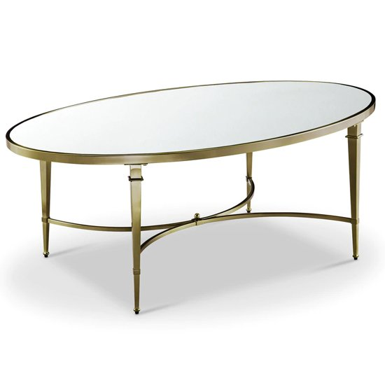 Waverly Glass Coffee Table With Gold Stainless Steel Legs