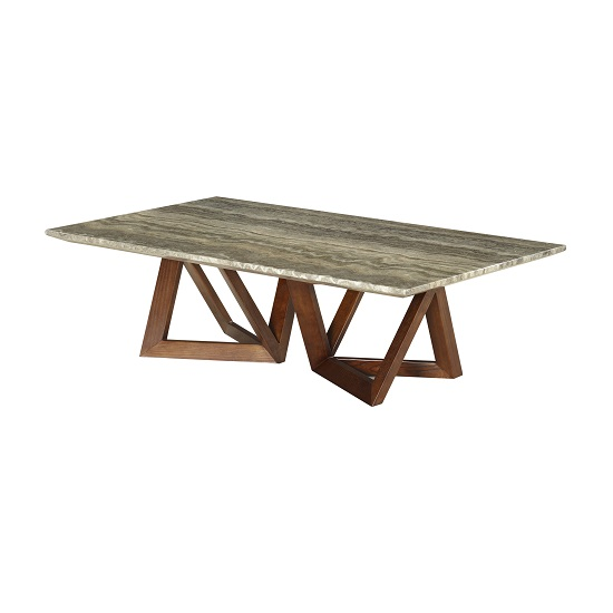 Marble Coffee Table With Metal Legs: Webstar Marble Coffee Table In Multicolor With Ash Metal