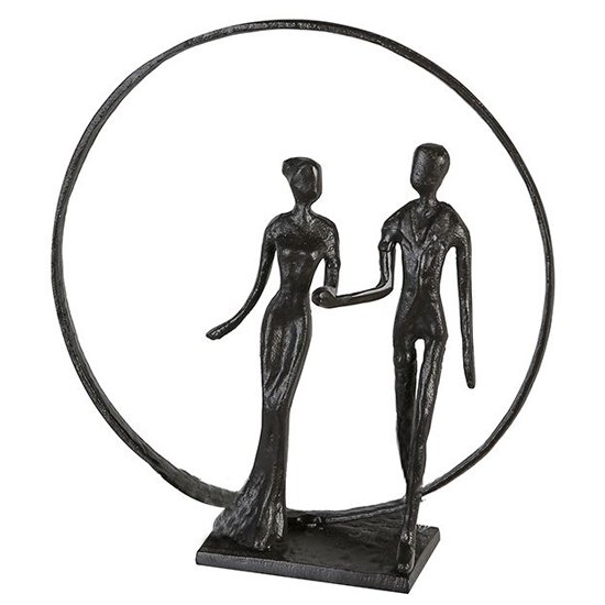 View Wedding iron design sculpture in burnished bronze