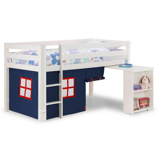 Wendy Midsleeper Bunk Bed In Surf White With Blue Tent