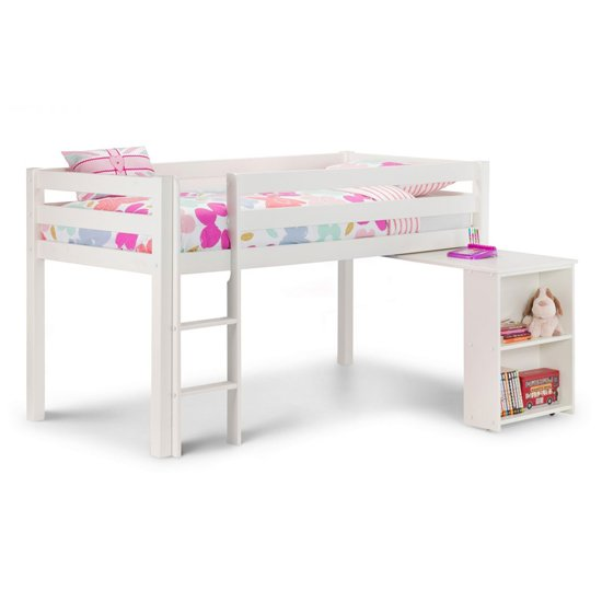 Wendy Midsleeper Bunk Bed In Surf White
