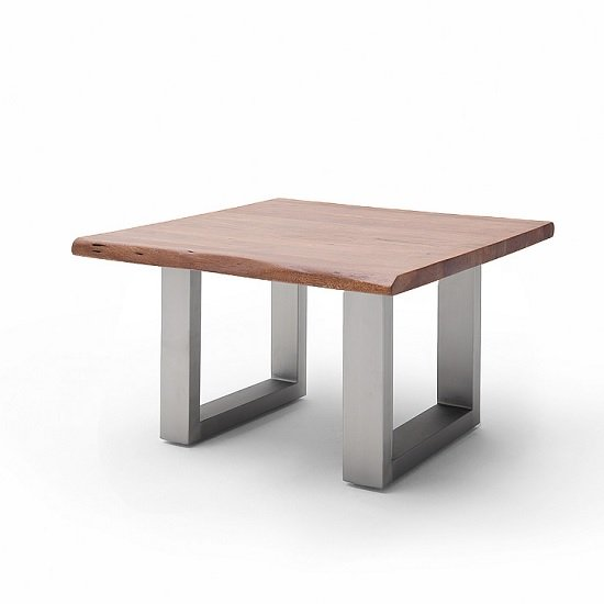 Wessex Coffee Table Square In Walnut And Brushed Stainless Steel_1