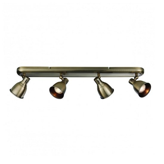 Westbury Four Ceiling Light In Antique Brass Finish