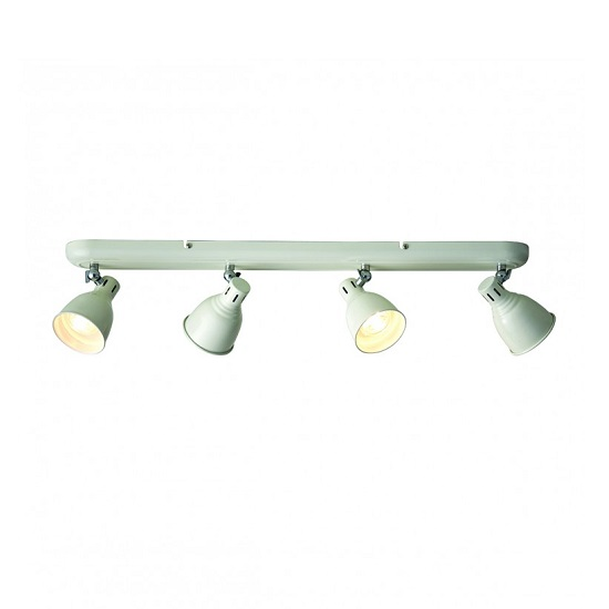 Westbury Four Ceiling Light In Ivory Gloss Finish