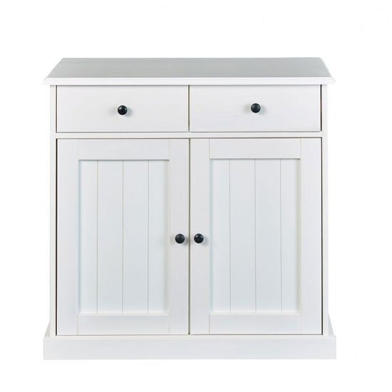 Westerland FSC Sideboard In White With 2 Doors And 2 Drawers