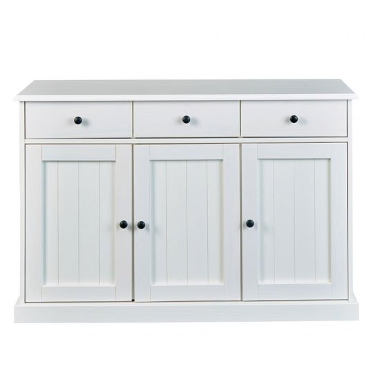 Westerland FSC Sideboard In White With 3 Doors And 3 Drawers