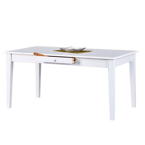 Westerland FSC Wooden Dining Table In White