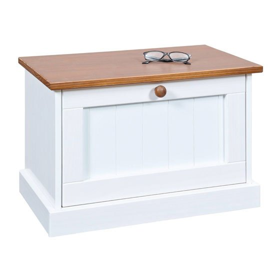 Westerland FSC Wooden Shoe Storage Cabinet In White And Oak