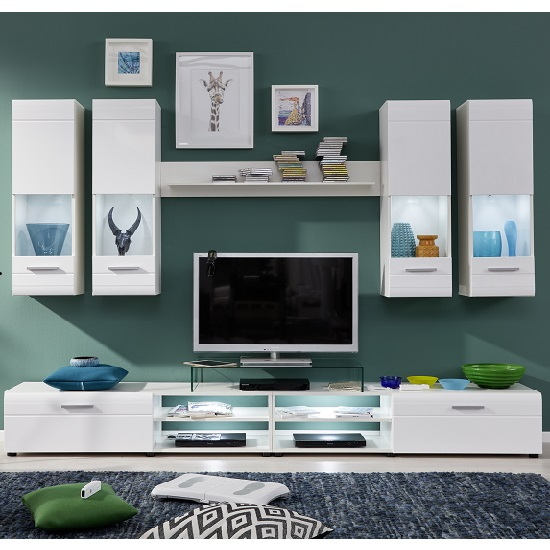 Westfield Living Room Set In White And Gloss Fronts With LED_3