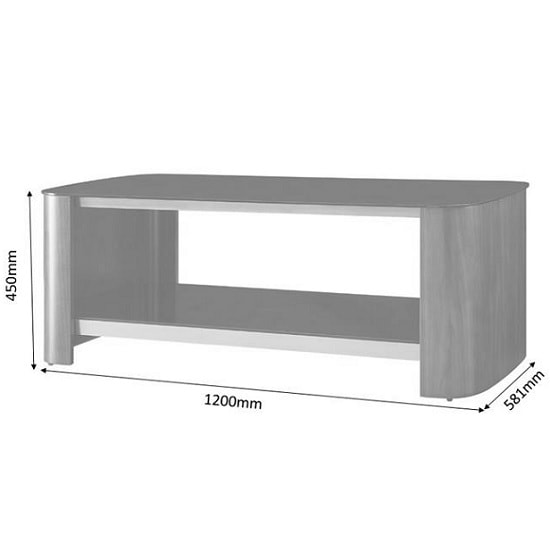 Westin Coffee Table In Black Glass And Walnut With Undershelf_3