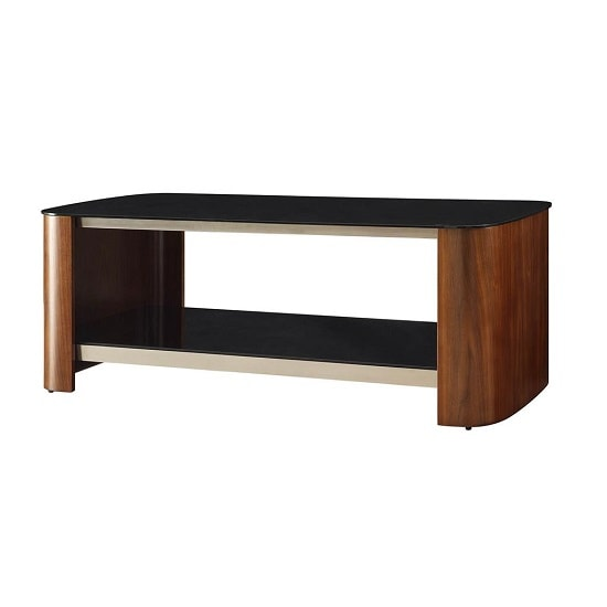 Westin Coffee Table In Black Glass And Walnut With Undershelf_2
