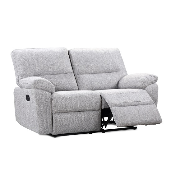 Westin 2 Seater Recliner Fabric Sofa In Sand And Zinc