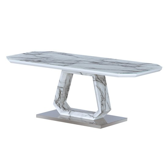 Westlake Marble Effect Glass Coffee Table