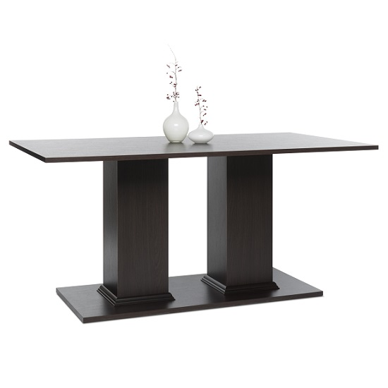 Weston Dining Table Rectangular In Darkwood