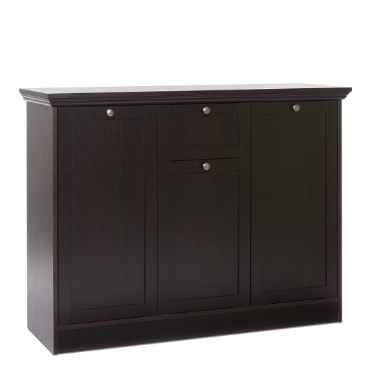 Weston Highboard In Darkwood With 3 Doors And 1 Drawer_1