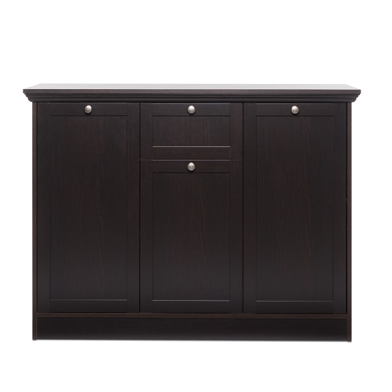 Weston Highboard In Darkwood With 3 Doors And 1 Drawer_2