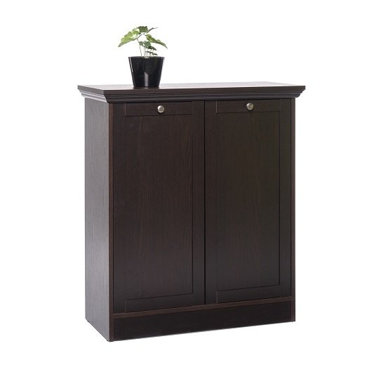 Read more about Weston storage cabinet in darkwood with 2 doors