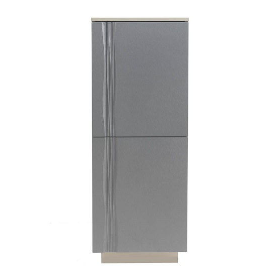 Wexford Modern Storage Cabinet In Matt Grey And Taupe