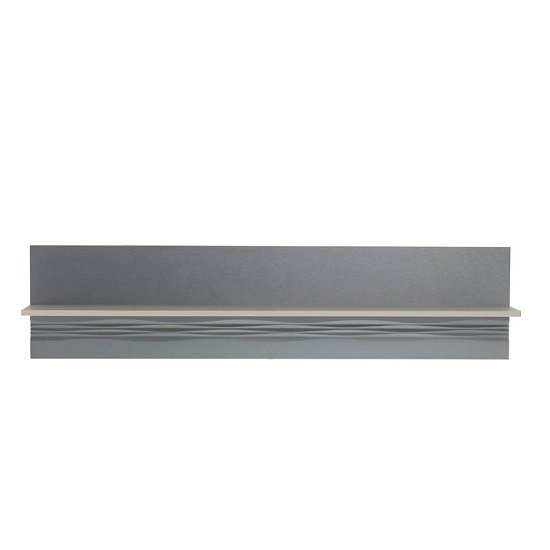Wexford Wall Mounted Display Shelf In Matt Grey And Taupe_1