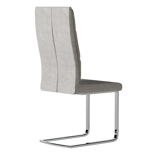Whipton Faux Leather Dining Chair In Antique Light Grey In Pair_3