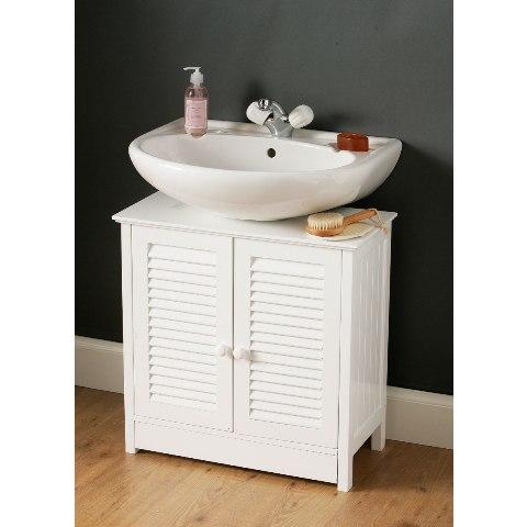 White under sink bathroom cabinet 1600903 3138 furniture for Bathroom cabinets under basin