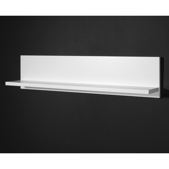 Monza Wall Mounted Display Shelf In White