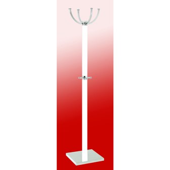 Ritmo Coat Stand In Solid Wood With Chrome Base