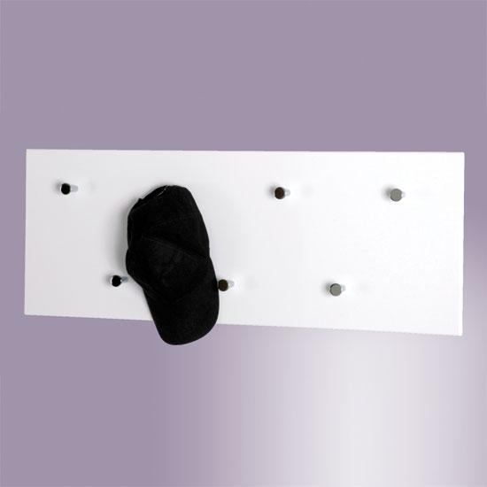 hi gloss white wall mounted coat rack 42390 ebay. Black Bedroom Furniture Sets. Home Design Ideas