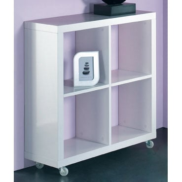Cube Wheeled Display Unit In White 6650 Furniture In