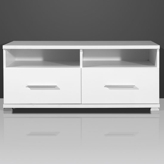 Nevada gloss white plasma tv stand 1521 84 7529 furniture i for White plasma tv stands