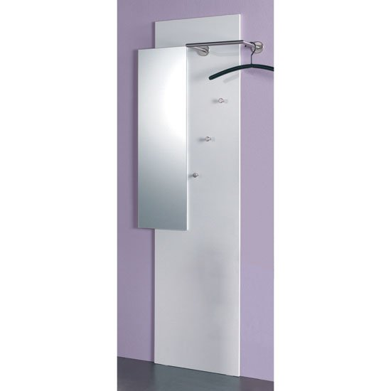 Pablo High Gloss White Wall Mounted Hallway Stand, 42340