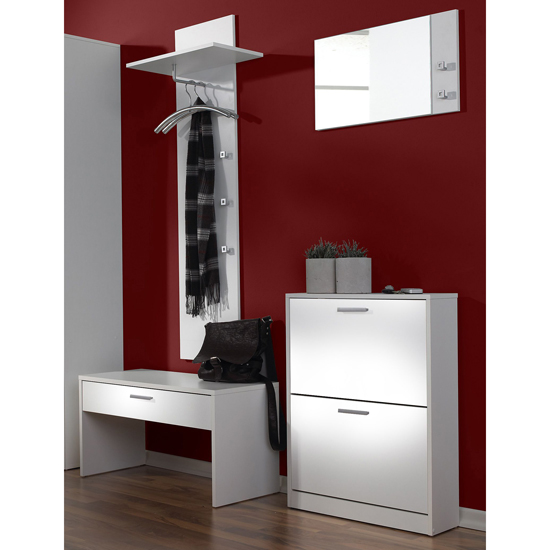 Torino Hallway Furniture Set In White