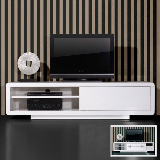 white high gloss tv stands 0395 84 - How To Decorate A Flat On A Budget