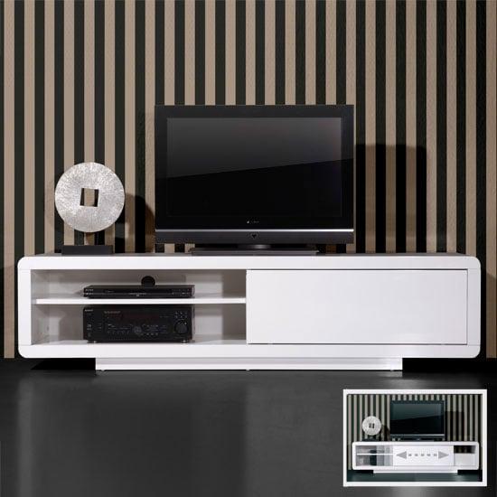 Genesis White High Gloss Plasma LCD TV Unit 0395 84