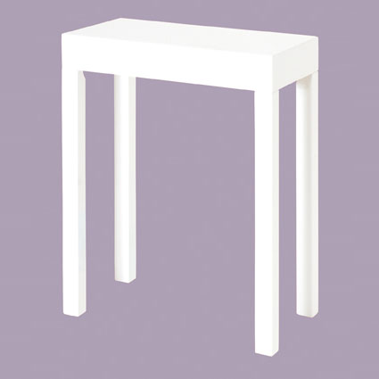 Linea Accent Table Rectangular In High Gloss White