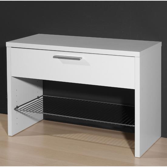 Centro White Shoe Bench 1323 84 Buy Modern Shoe Rack Furniture In Fashion