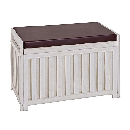 Tanja Wooden Storage Bench In White 26320 18123 Furniture
