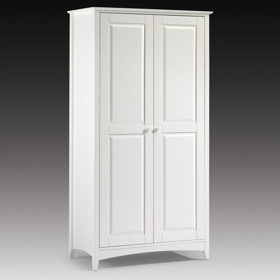 White Wooden Wardrobe ~ Amani wardrobe in white with doors furniture