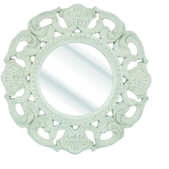 Roco Wall Mirror With Round White Frame