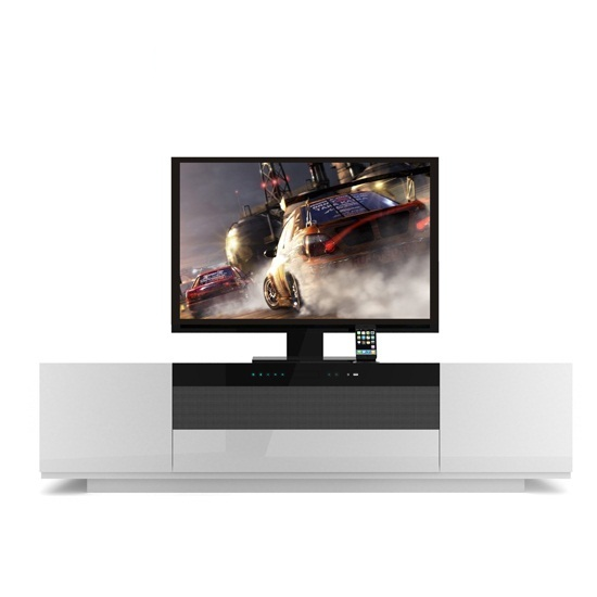 Read more about Tacoma widescreen tv stand in high gloss white