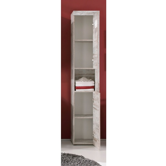 White Pine Cabinets: Wildon Wooden Tall Bathroom Cabinet In Canyon White Pine
