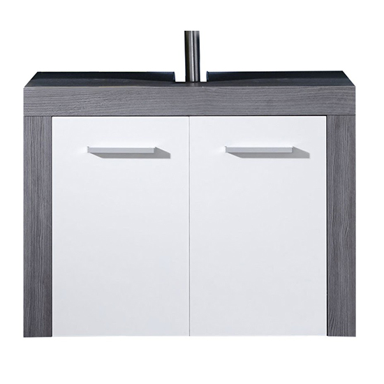 Wildon Bathroom Furniture Set 1 In White And Smoky Silver_5