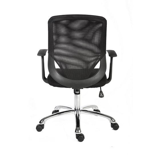 Wildon Home Office Chair in Black Fabric With Mesh Back_2