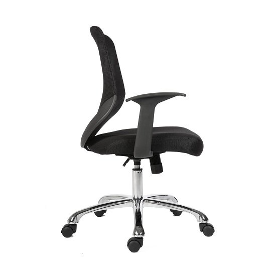 Wildon Home Office Chair in Black Fabric With Mesh Back_3
